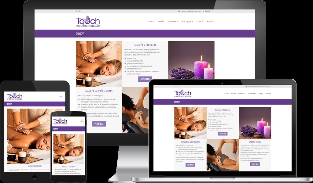 Mobilne masaže Touch - Za boljše počutje