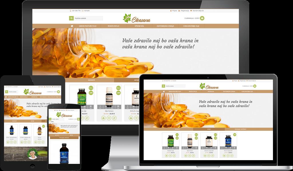 Oleasana – Trgovina s prehranskimi dopolnili
